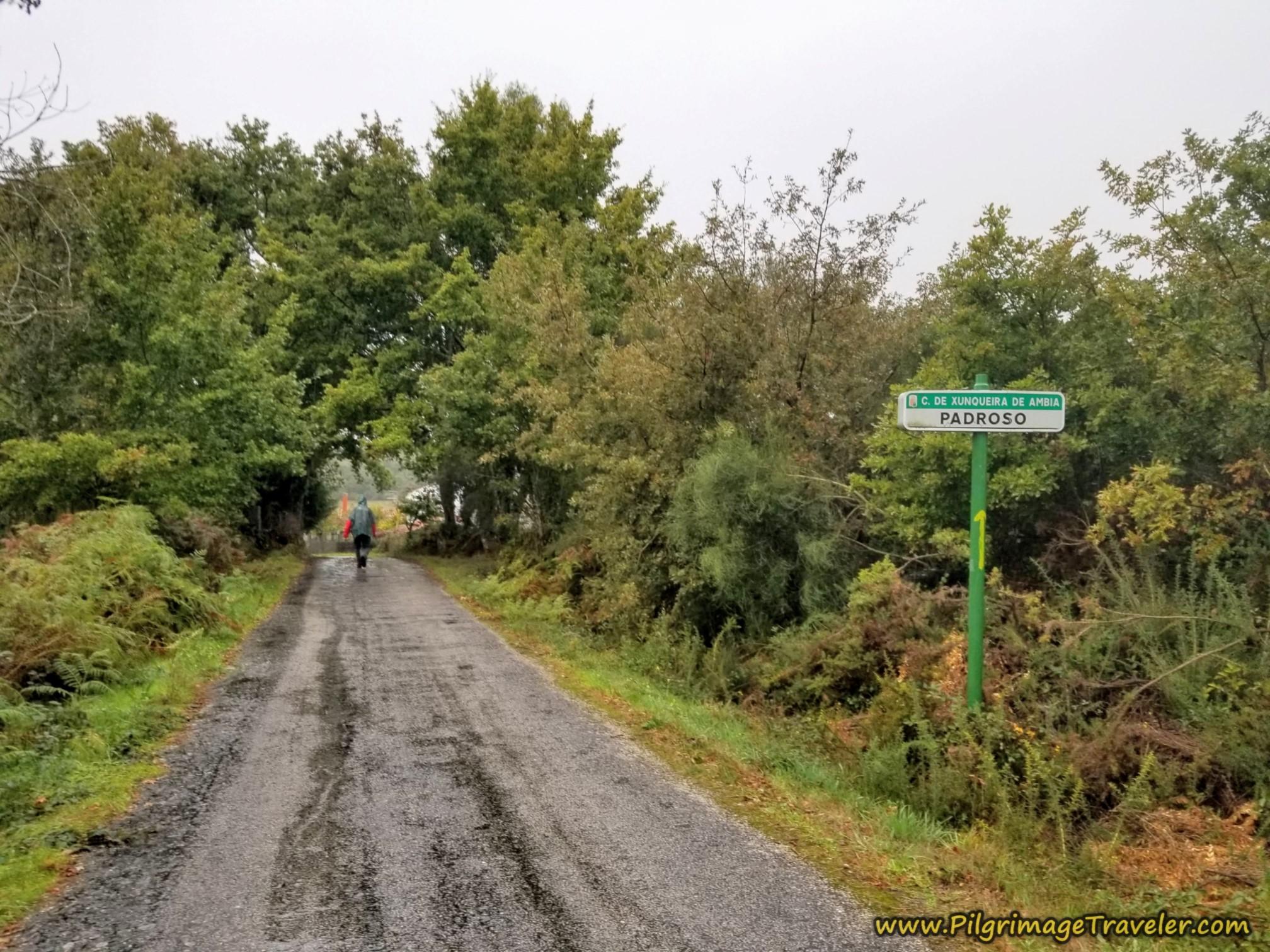 Entering Padroso, Camino Sanabrés, Vilar de Barrio to Xunqueira de Ambía