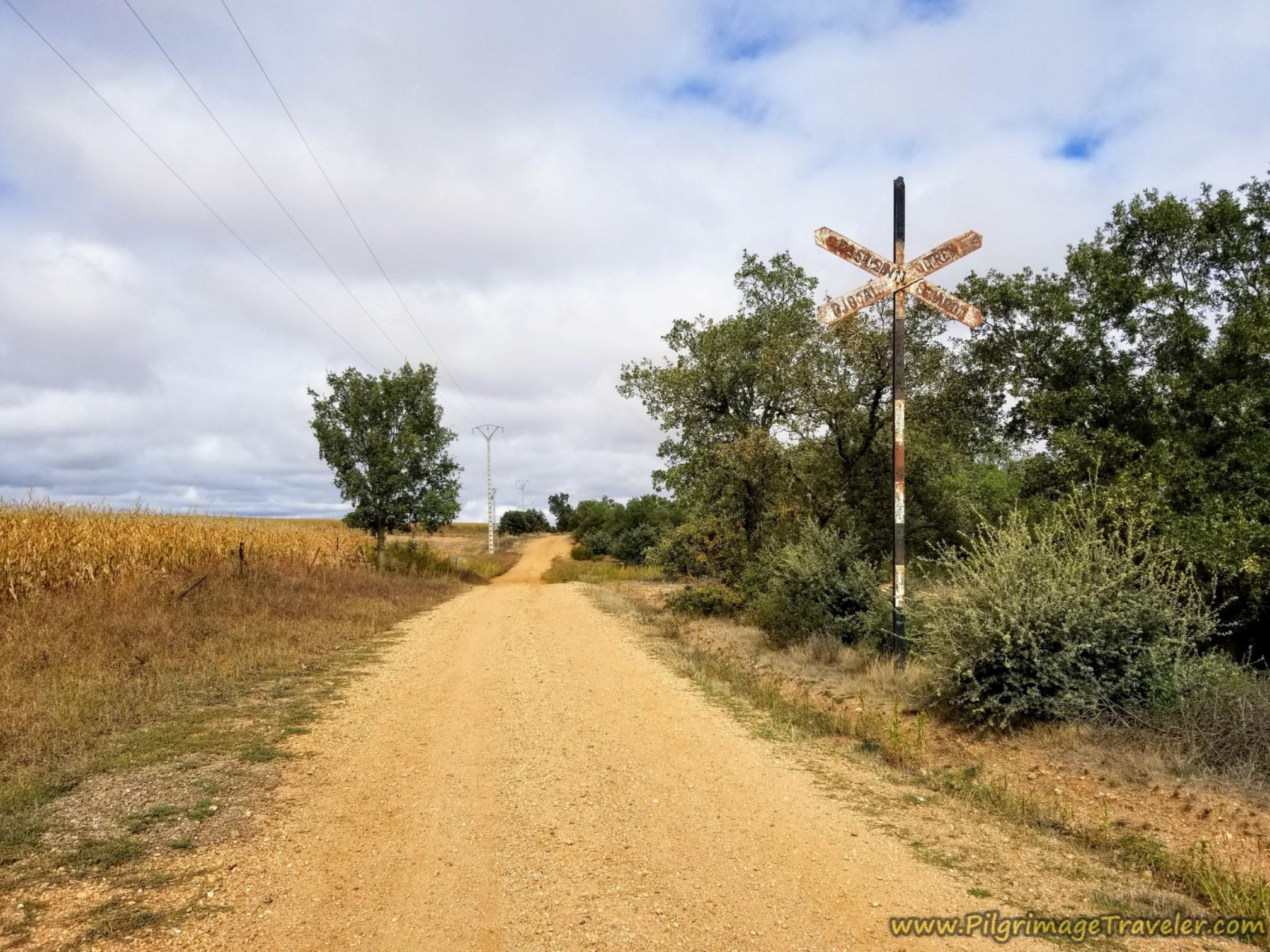 Paralleling Railroad Track on the Vía de la Plata from Cañedino to Villanueva de Campeán