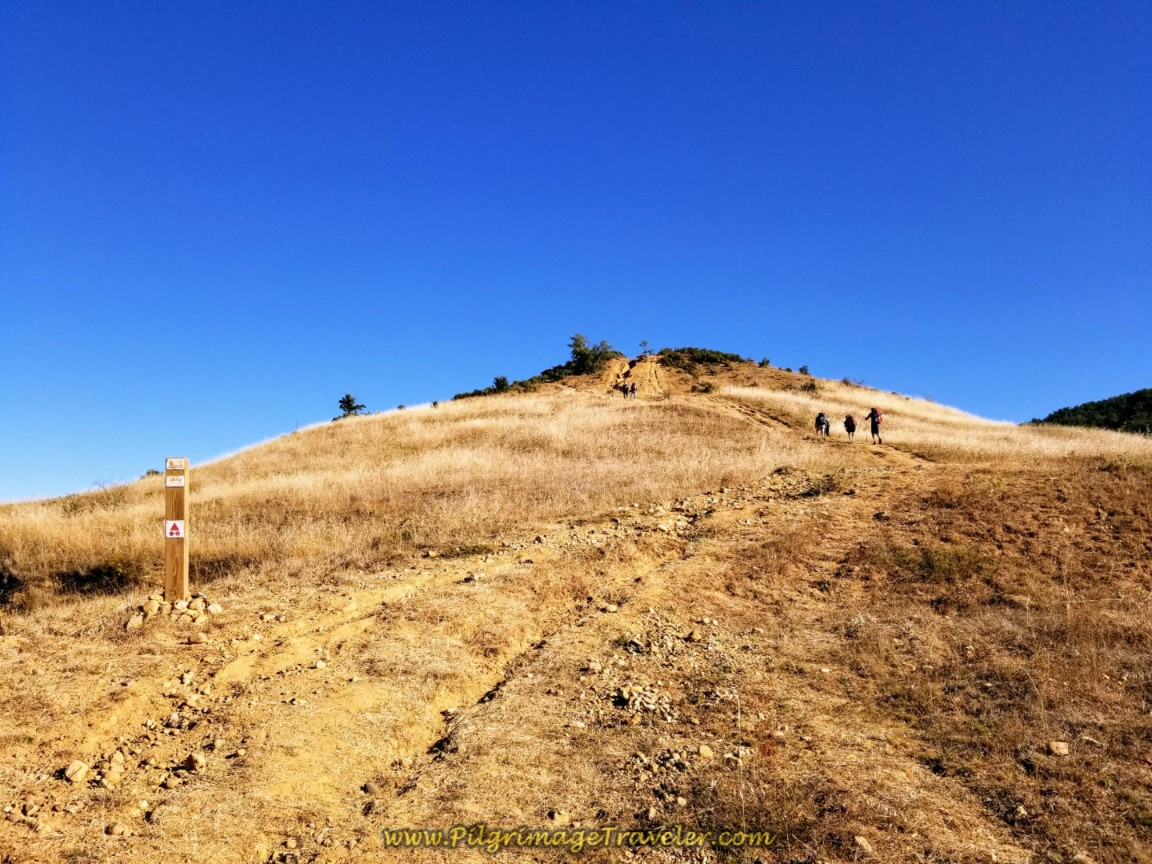 Pilgrims Climbing the Short Steep Hill Ahead