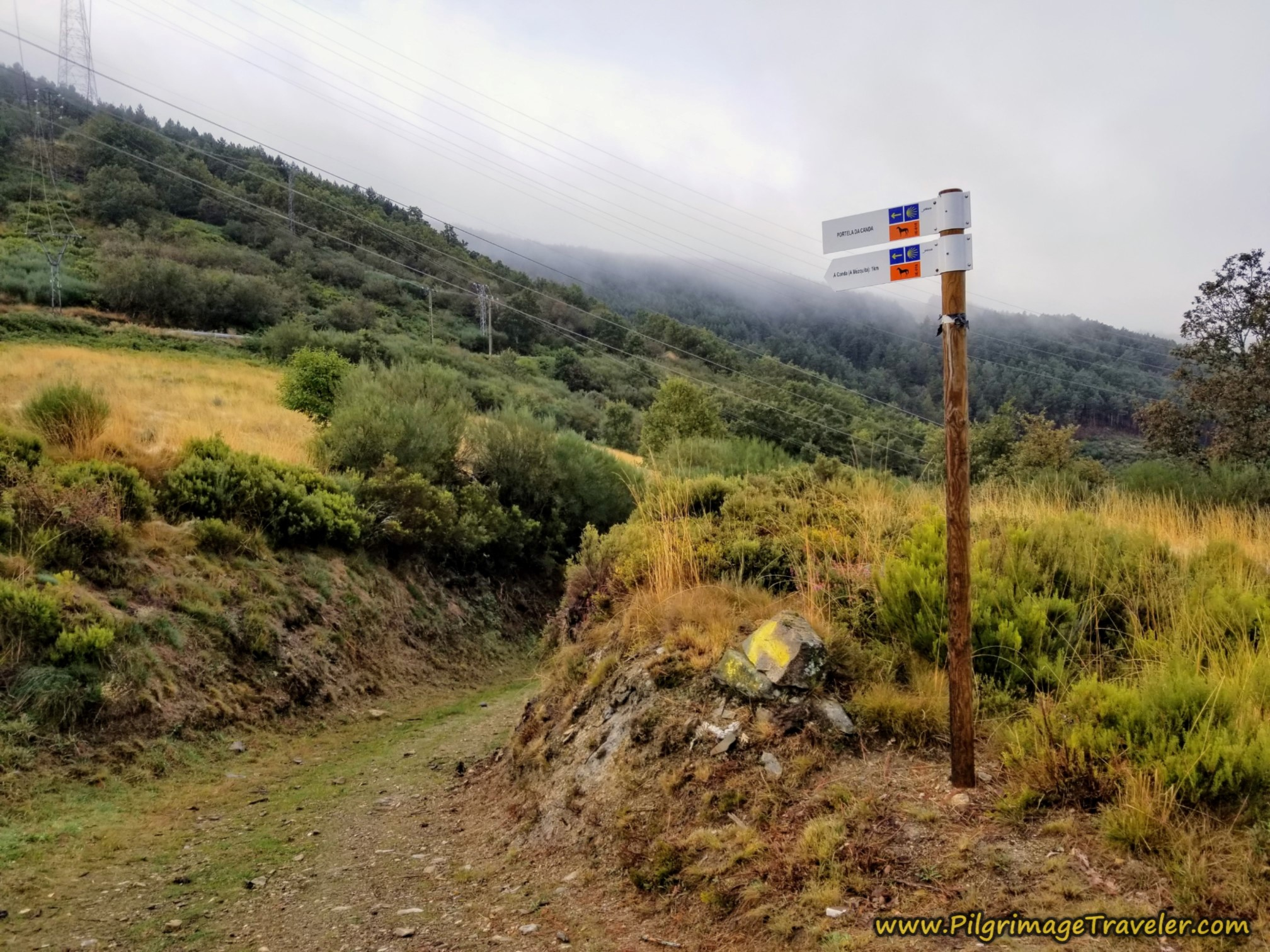 This Way Down from the Alto da Canda on the Camino Sanabrés from Lubián to A Gudiña