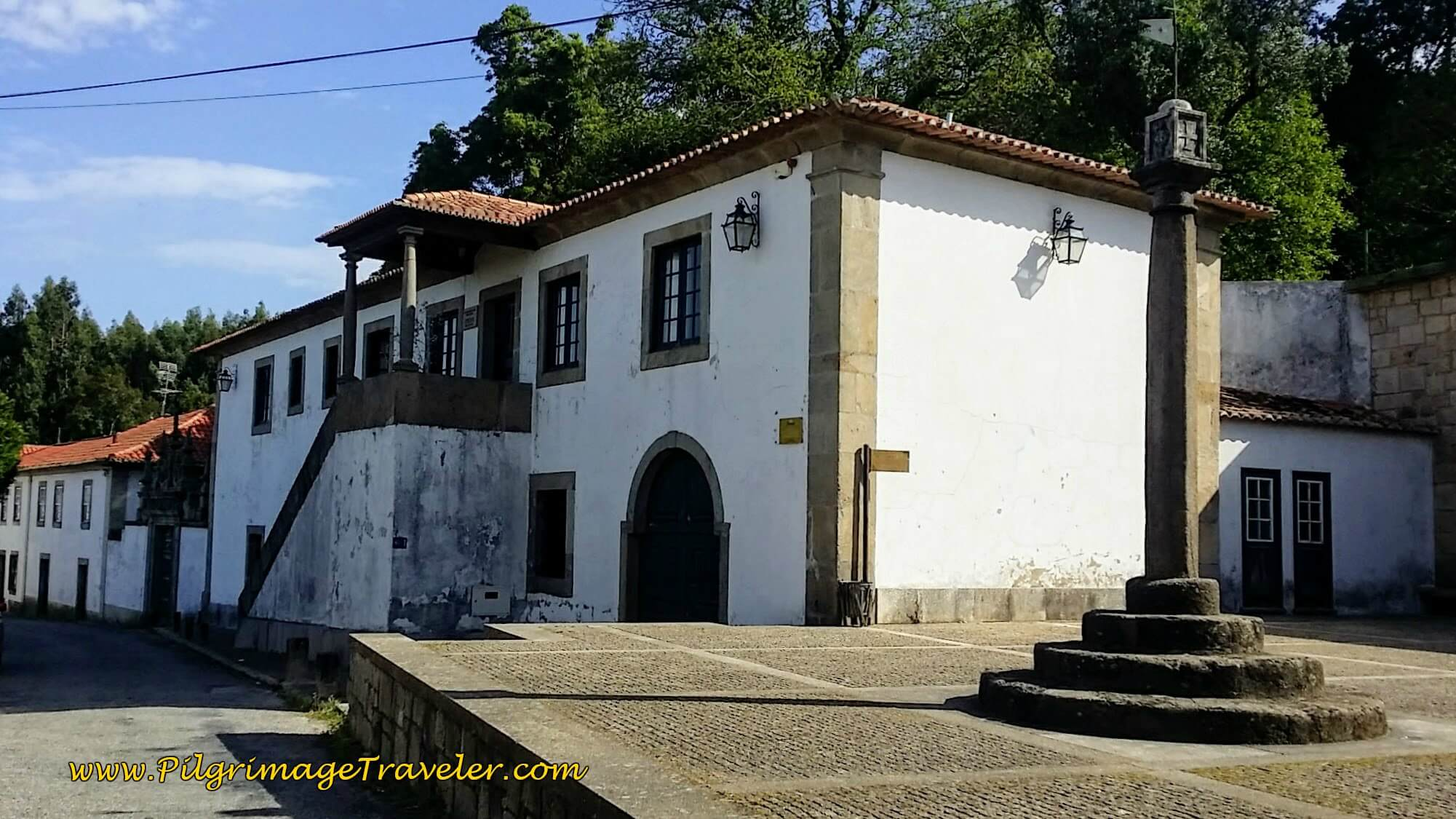 Historic Square of Bemposta on the Portuguese Way