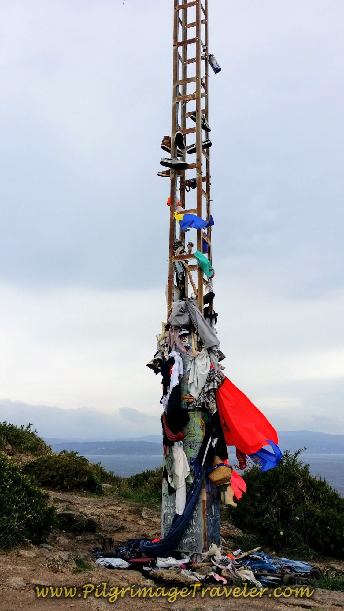 Land's End Tower Littered With Discarded Pilgrim's Clothing