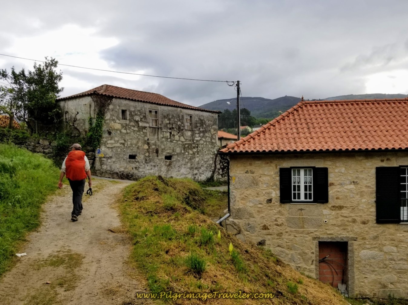 Leaving the Forest for the Town of Arco on day eighteen on the Central Route of the Portuguese Camino