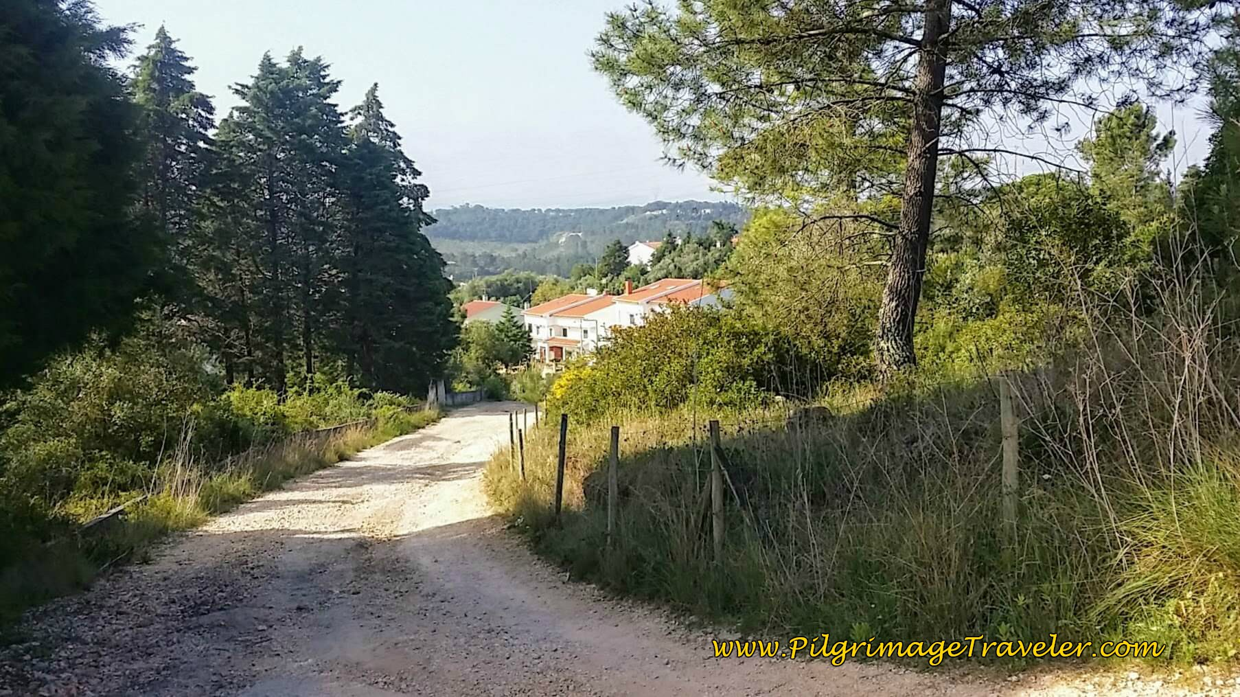 Down the Hill on the Rua Vale, Camino Portugues