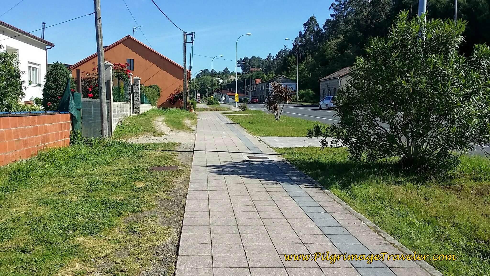 Sidewalk Parallels the N-550 on Day Twenty-Four, Portuguese Camino