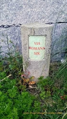 Via Romana XIX Waymark on day twenty-three, Camino Portugués