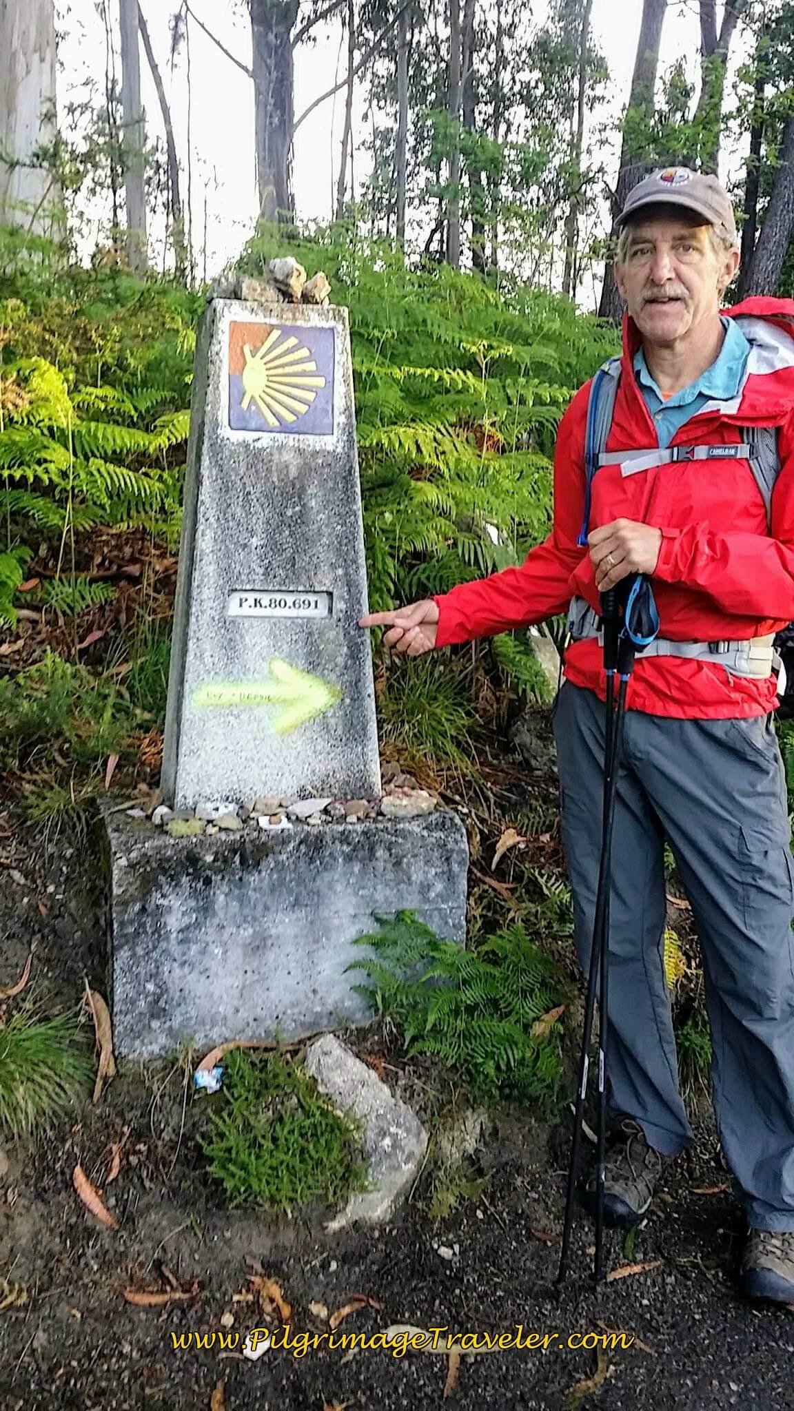 80 Kilometers to Santiago! on day twenty-two on the Camino Portugués