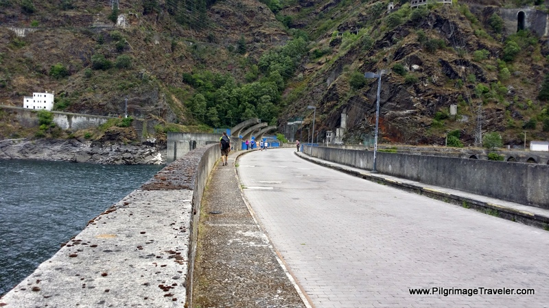 Crossing the Embalse de Salime, Asturias, Spain