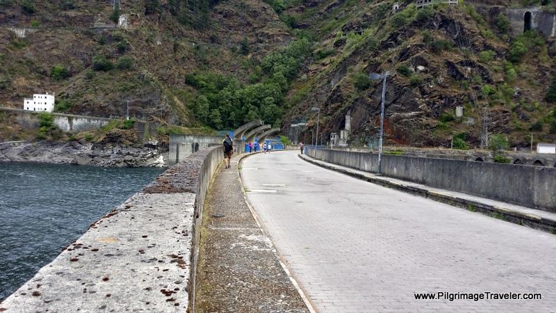 Crossing the Embalse de Salime, Asturias, Spain