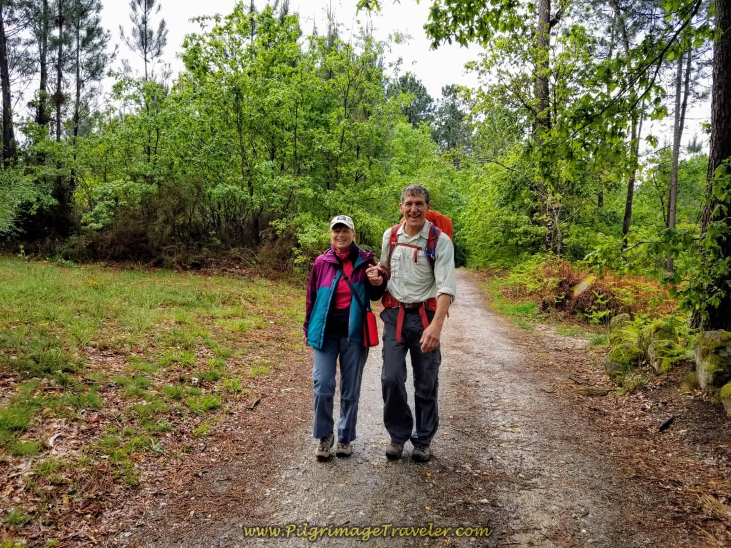 Glyvia and Rich on day twenty on the central route of the Portuguese Camino