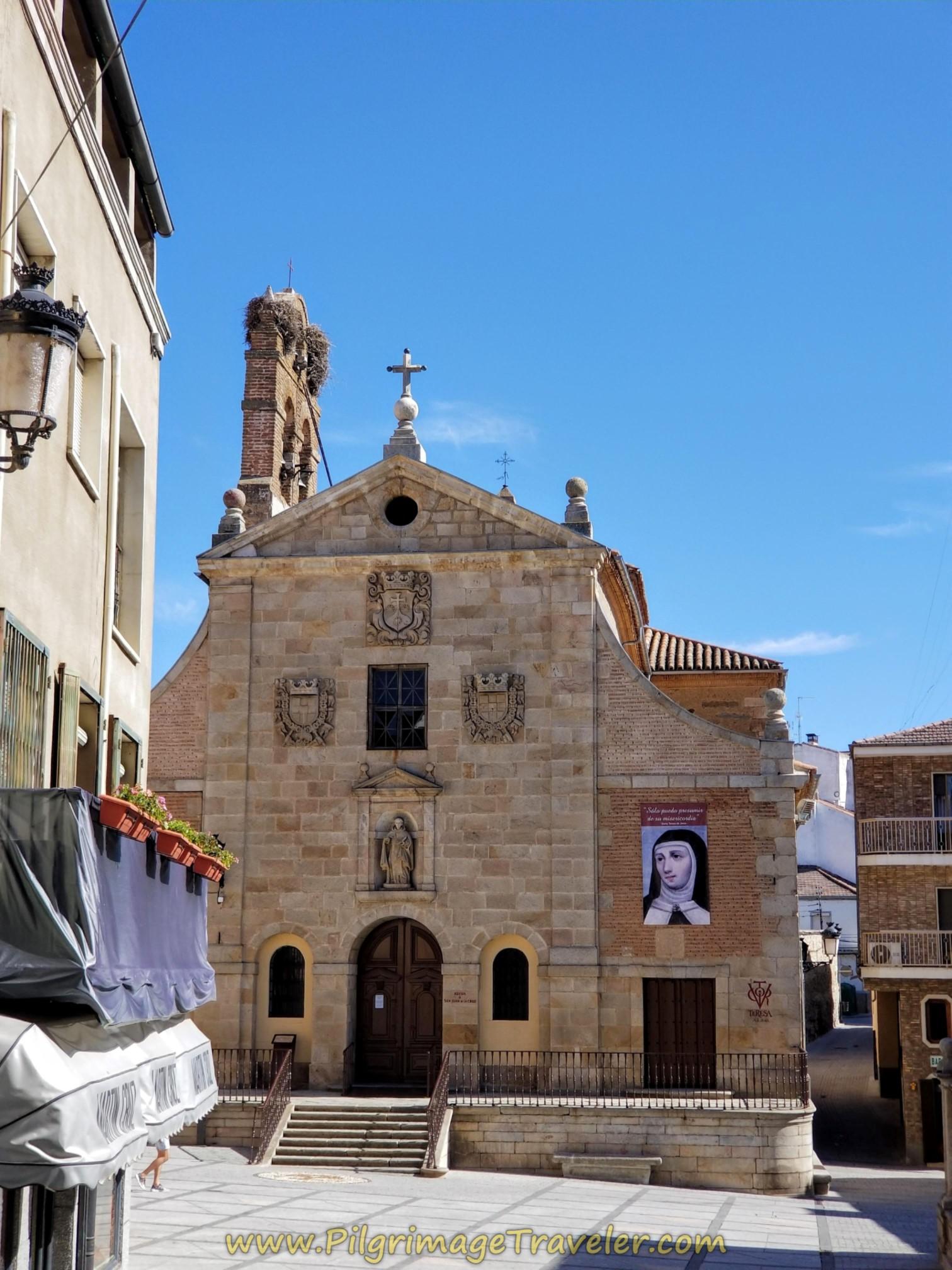 Iglesia de San Juan de la Cruz in the Plaza Santa Teresa in Alba de Tormes