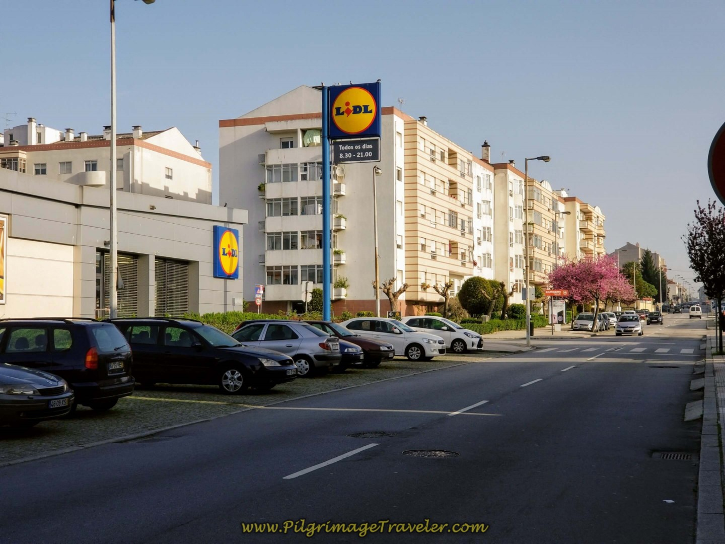 Pass the Lidl Supermarket on day fifteen on the Central Route of the Camino Portugués