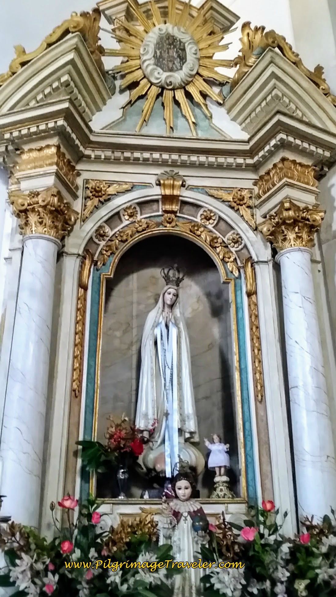 Altar to Fátima in Church