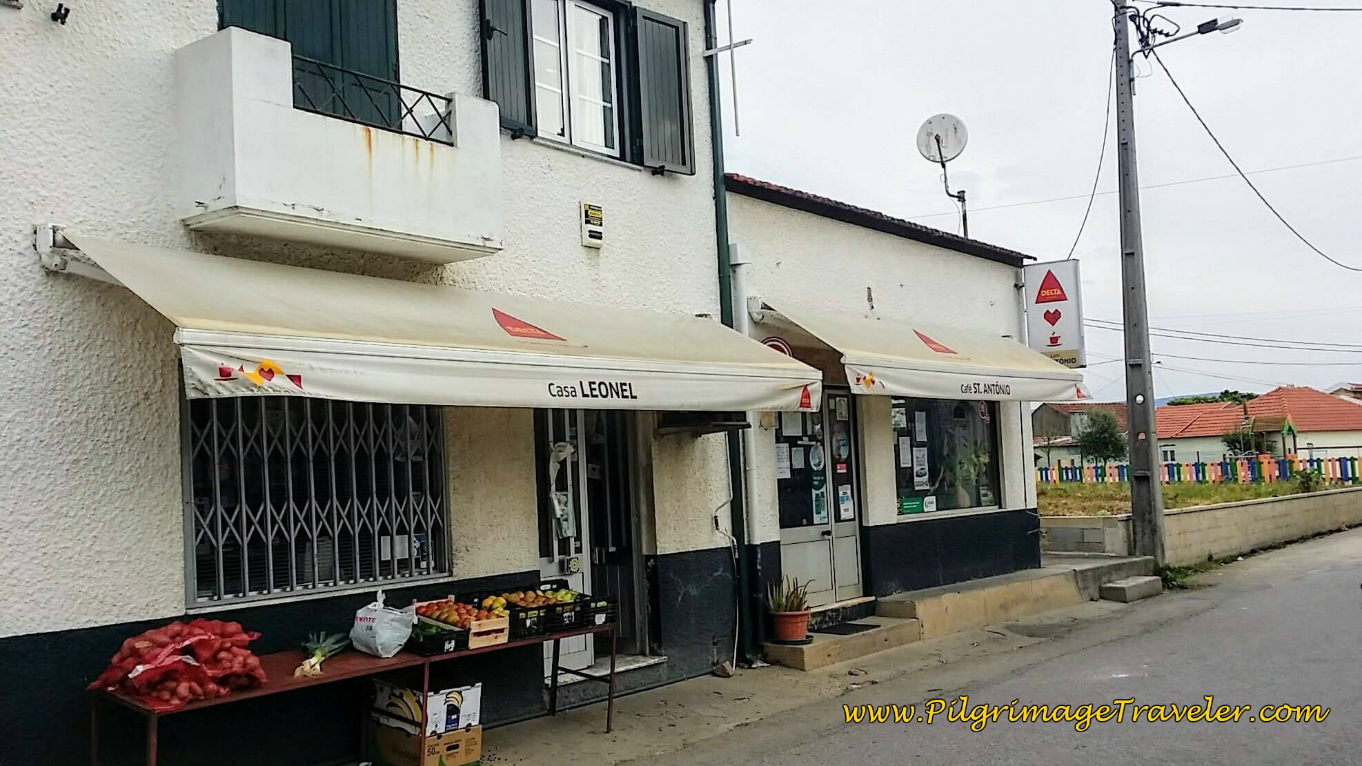 Pit Stop at the Café St. António in Serém on day twelve of the Camino Portugués