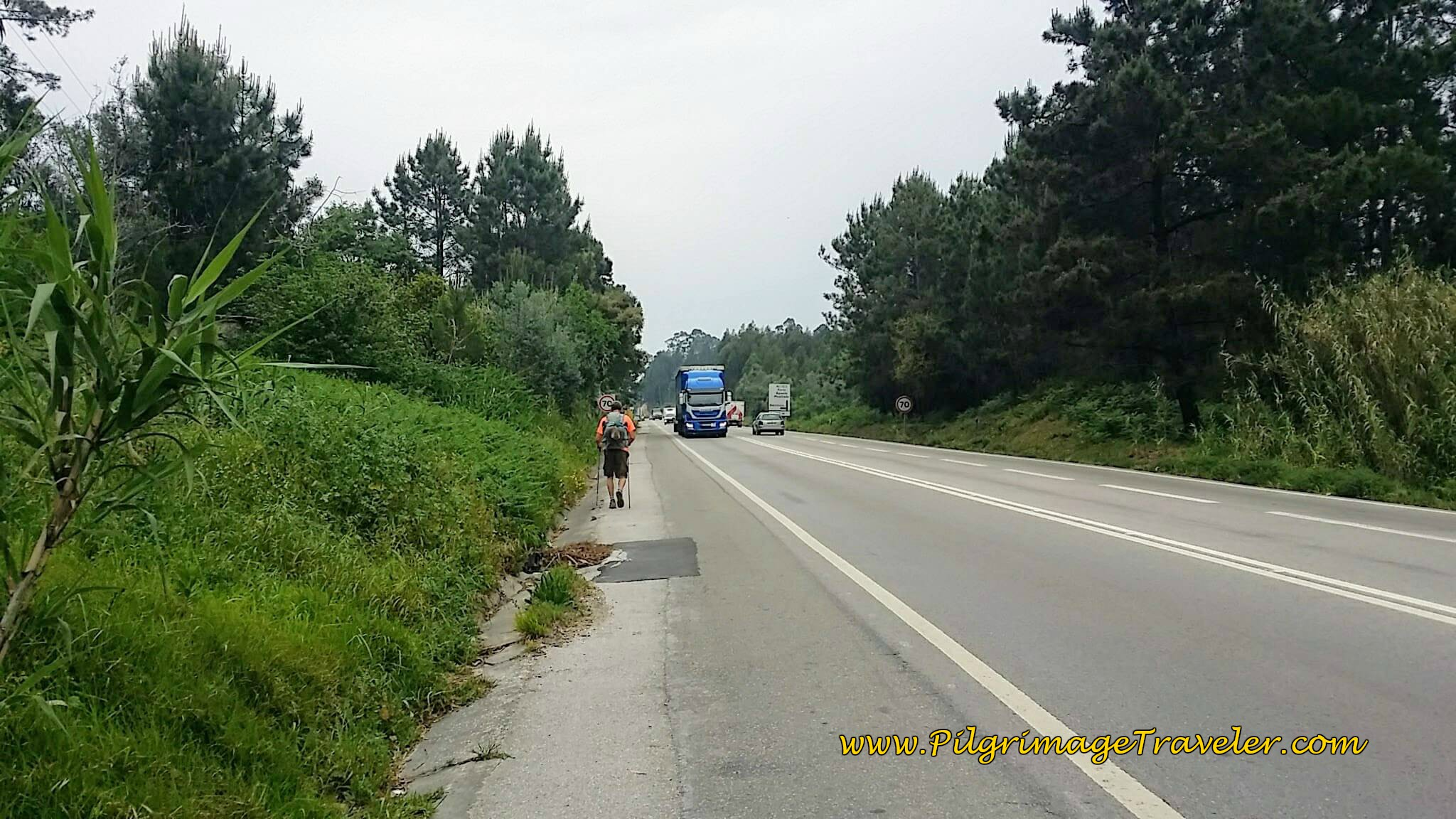 Joining the Busy IC2 on day ten of the Portuguese Camino