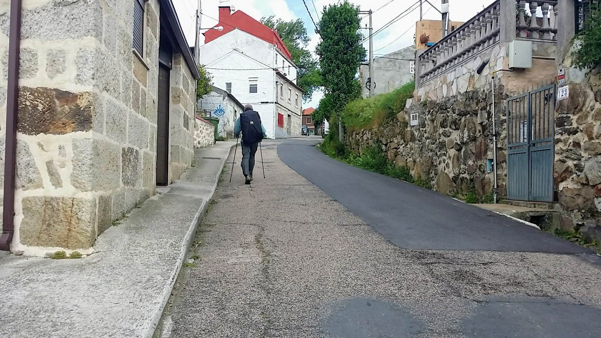 Up the Hill on the Baixada á Salgueira, Vigo, Spain on day twenty-one of Portuguese Way