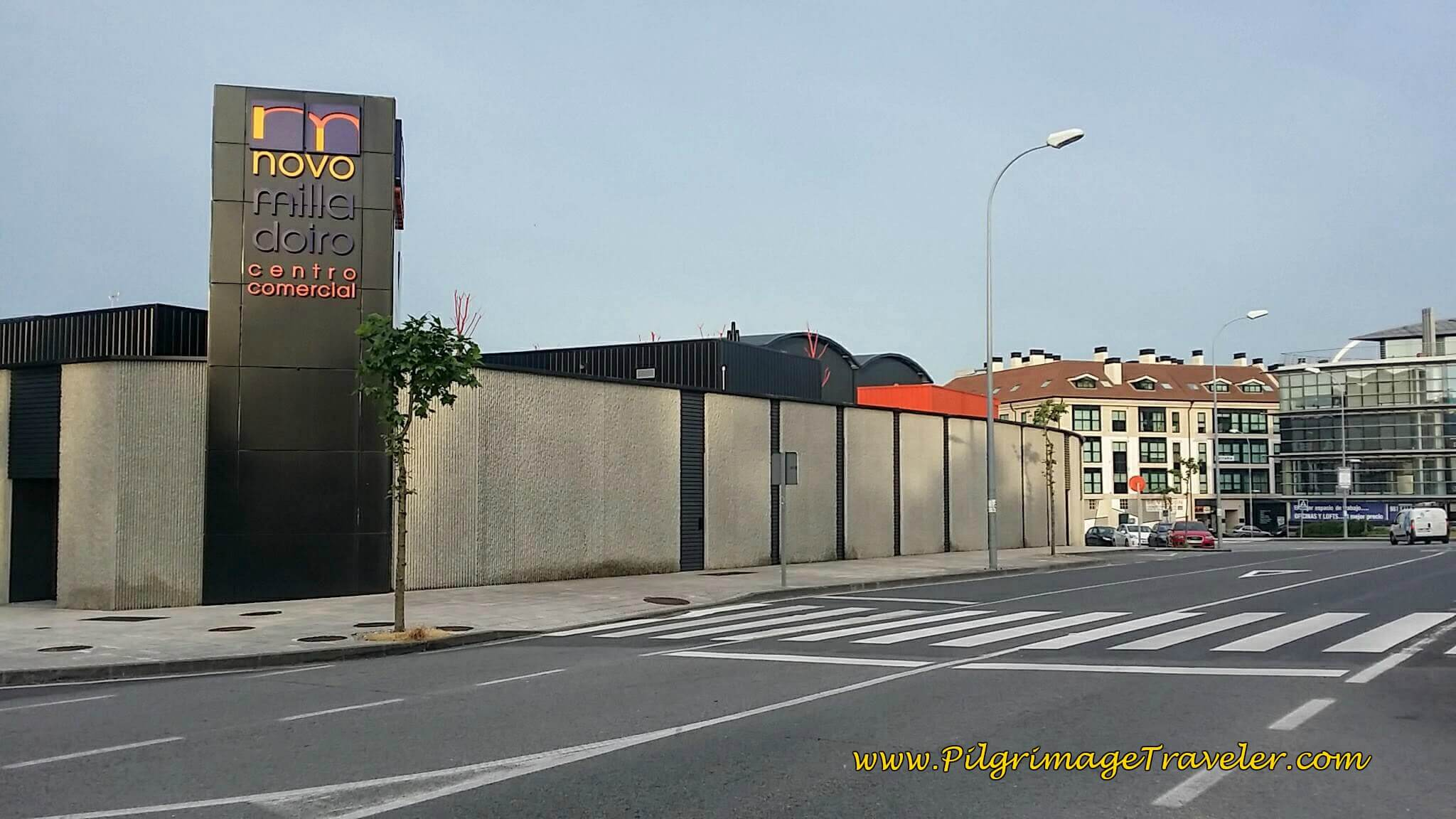 Look for Path Across From the Novo Milladoiro Commercial Center on day twenty-five of the Camino Portugués