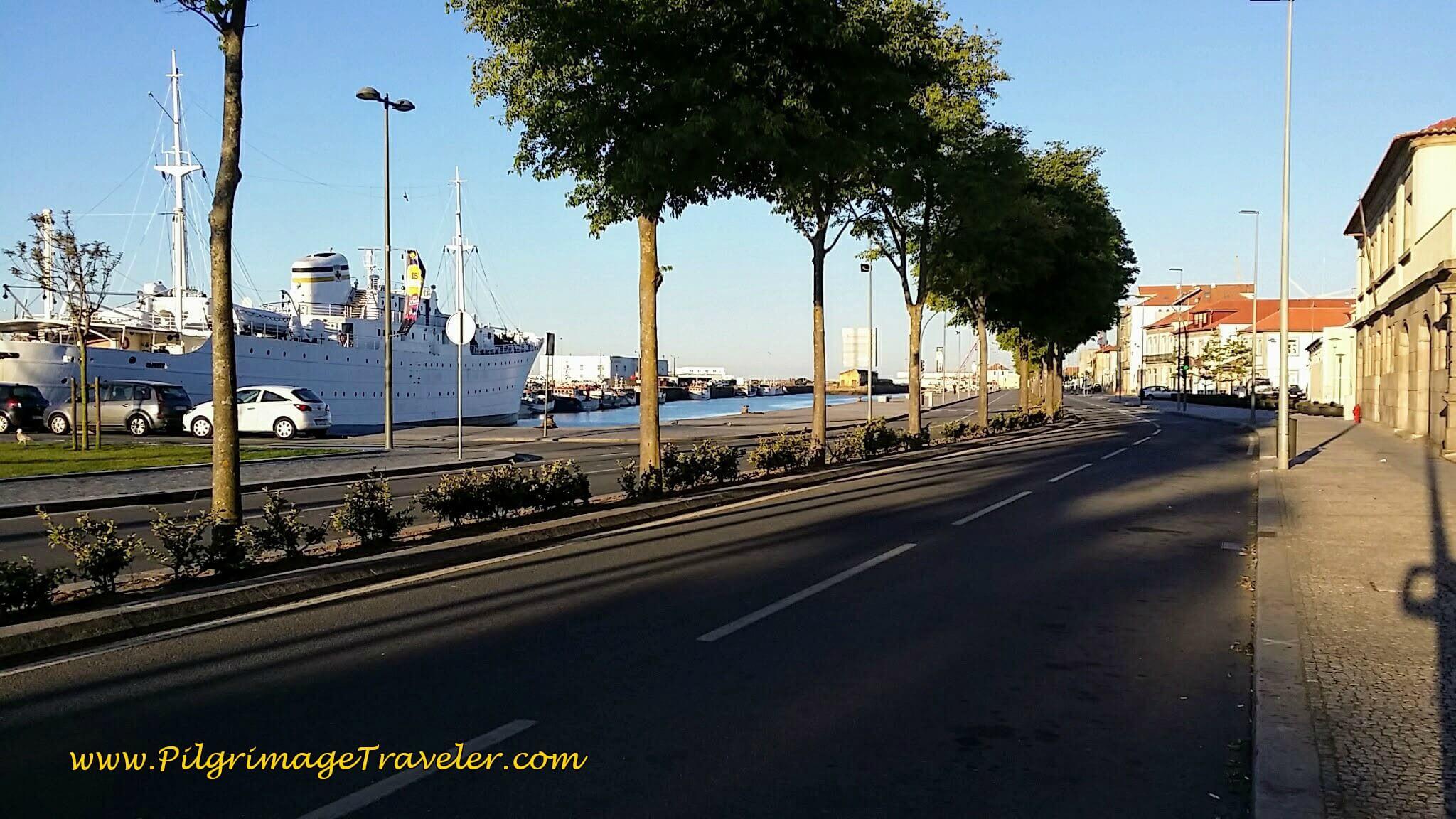 The Harbor along the Rua Alves Cerqueira, Viana do Castelo on day eighteen of the Camino Portugués on the Senda Litoral