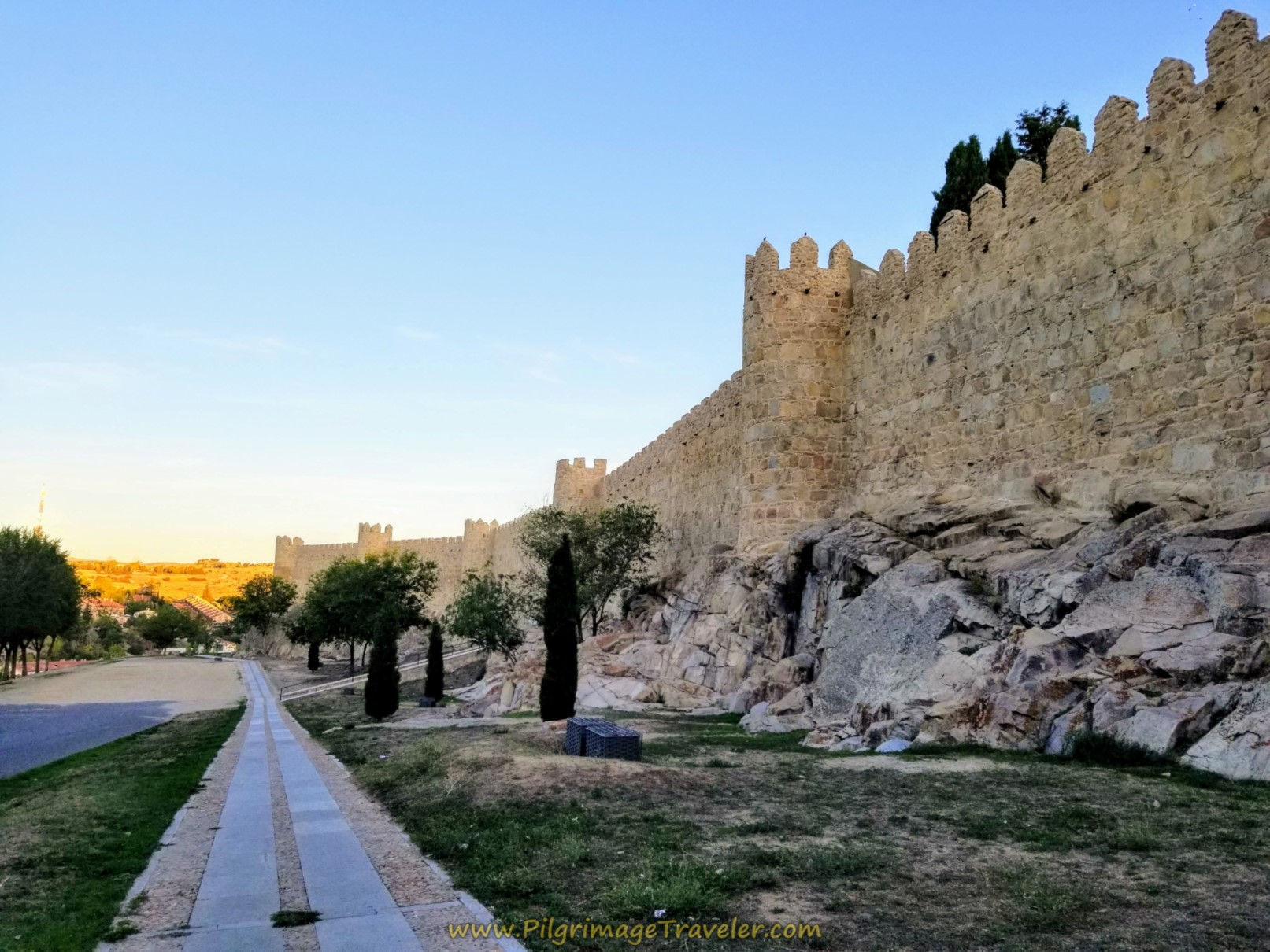 The Camino Teresiano follows along the Ávila fortress walls for about 400 meters of historical fun!