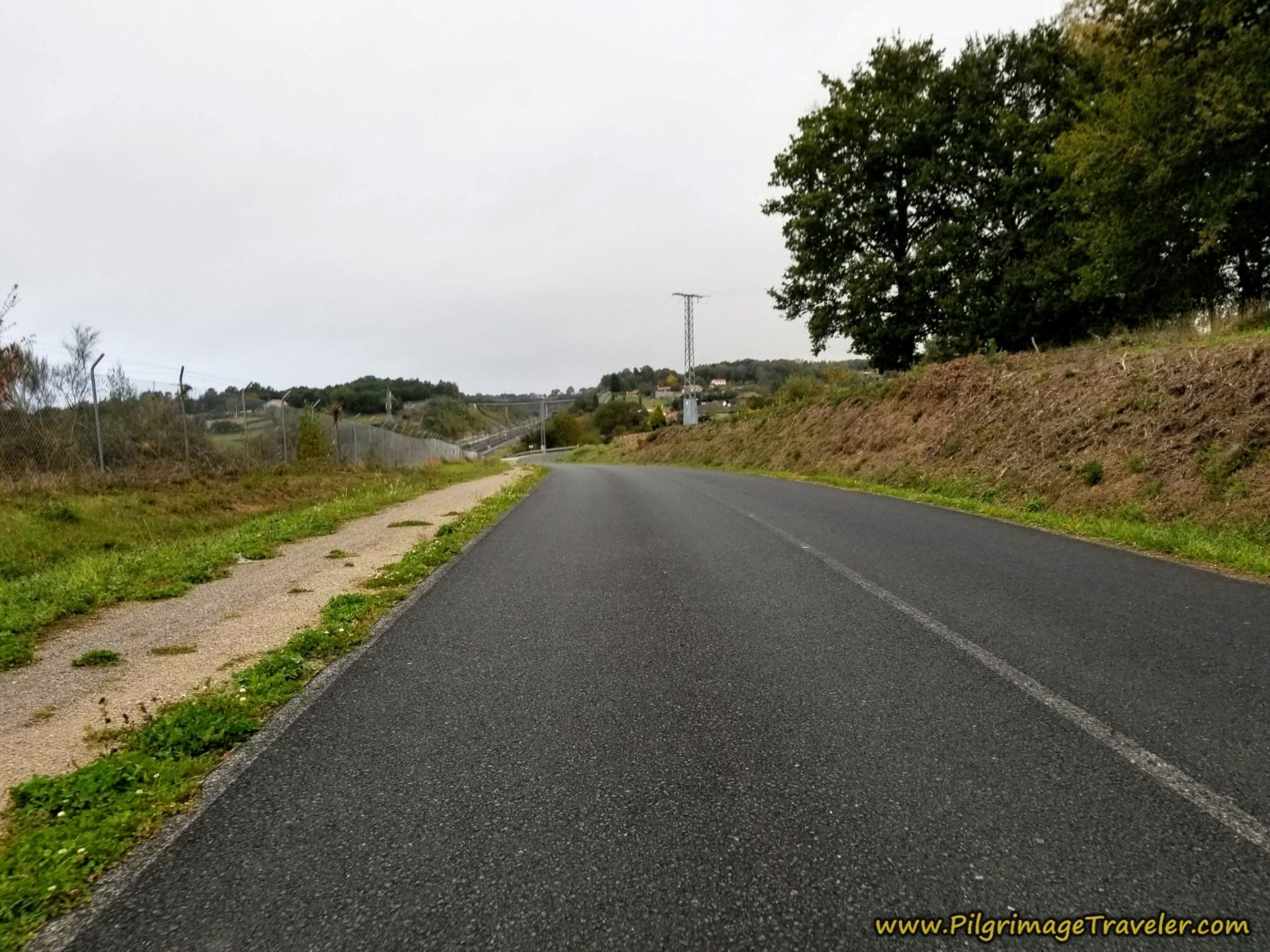 Road Parallels Railroad Tracks