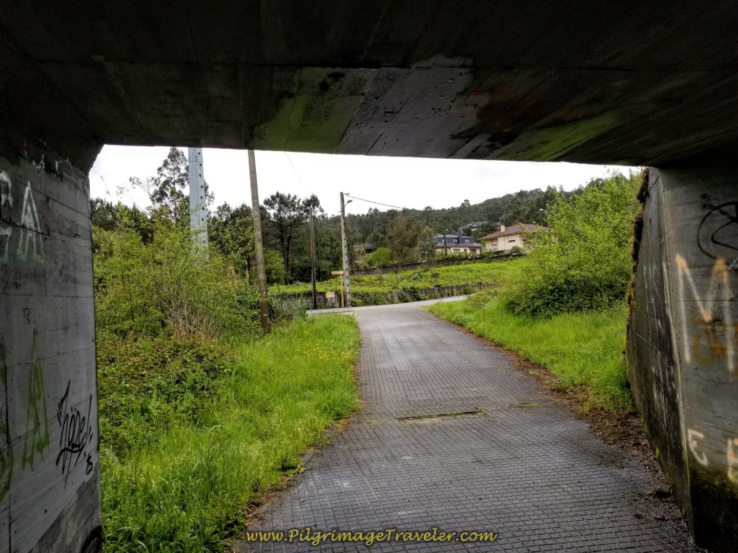 Walk Under A-52 Ramp in O Porriño on day twenty-one of the central route of the Portuguese Camino