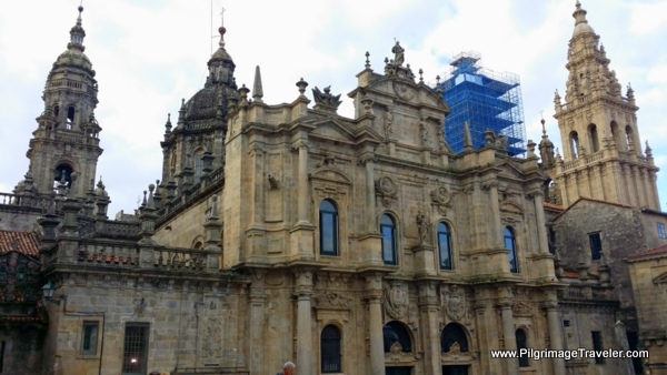 The Northern Façade of the Cathedral of Santiago de Compostela
