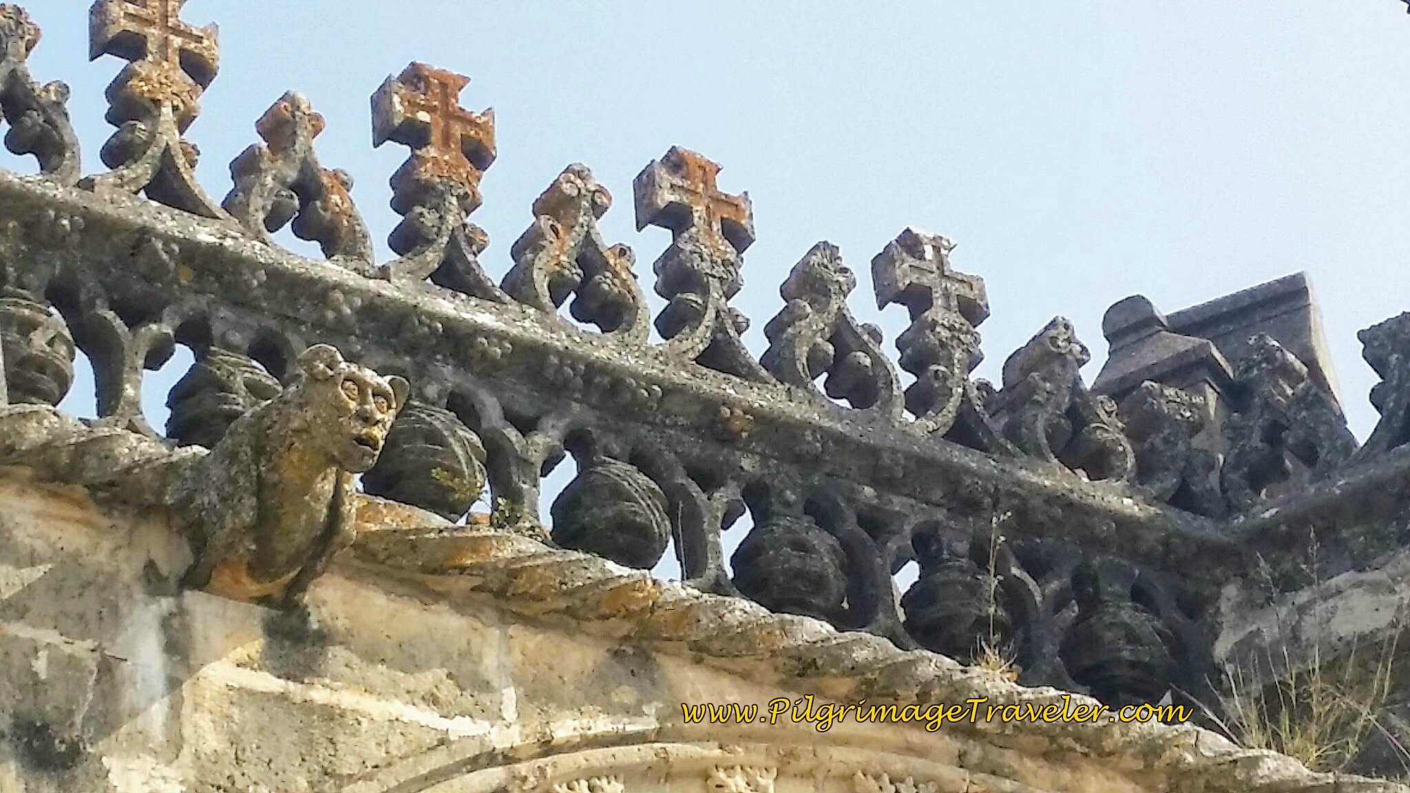 Close-up Manueline Embellishments on the Rooftop, Convento de Cristo, Tomar