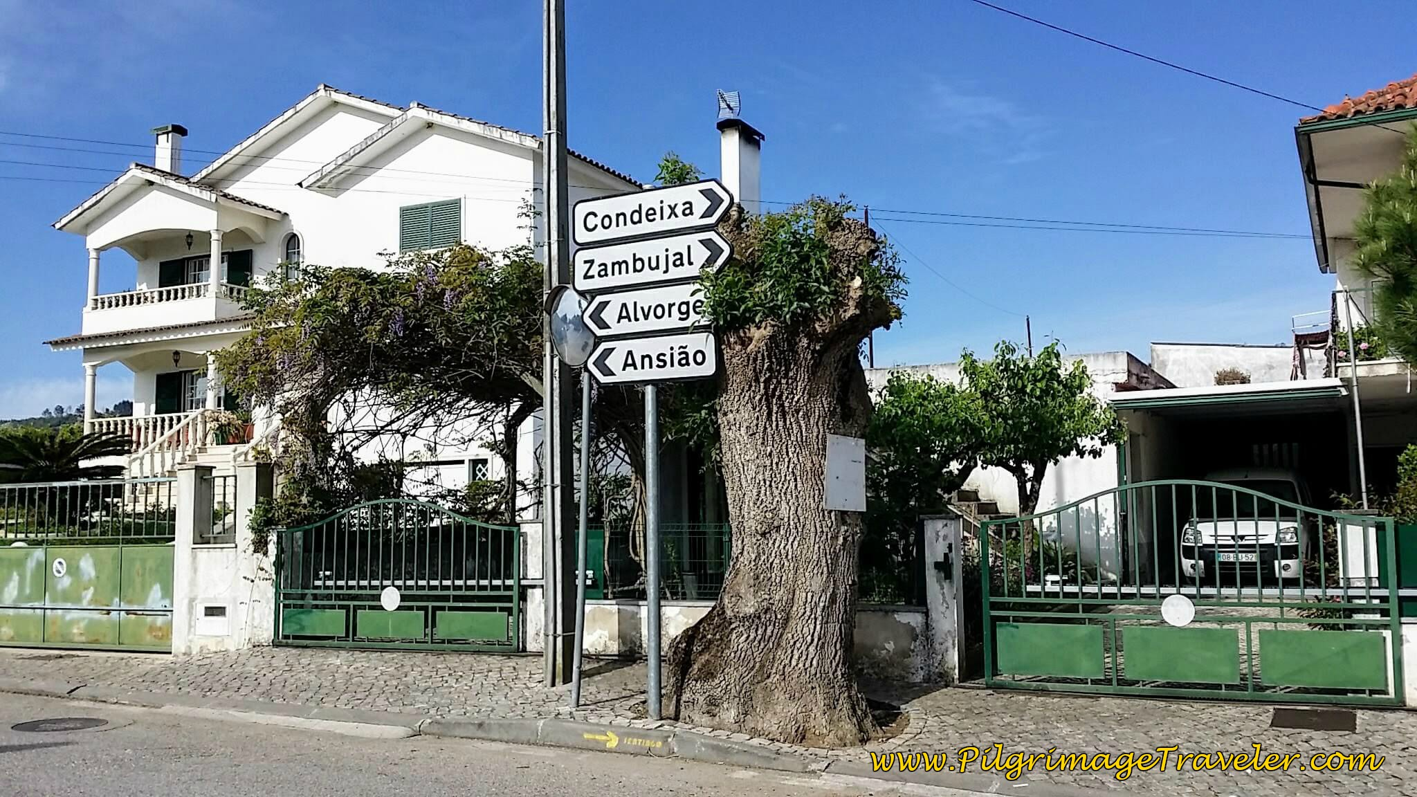 Right Turn back on N347-1 Toward Condeixa
