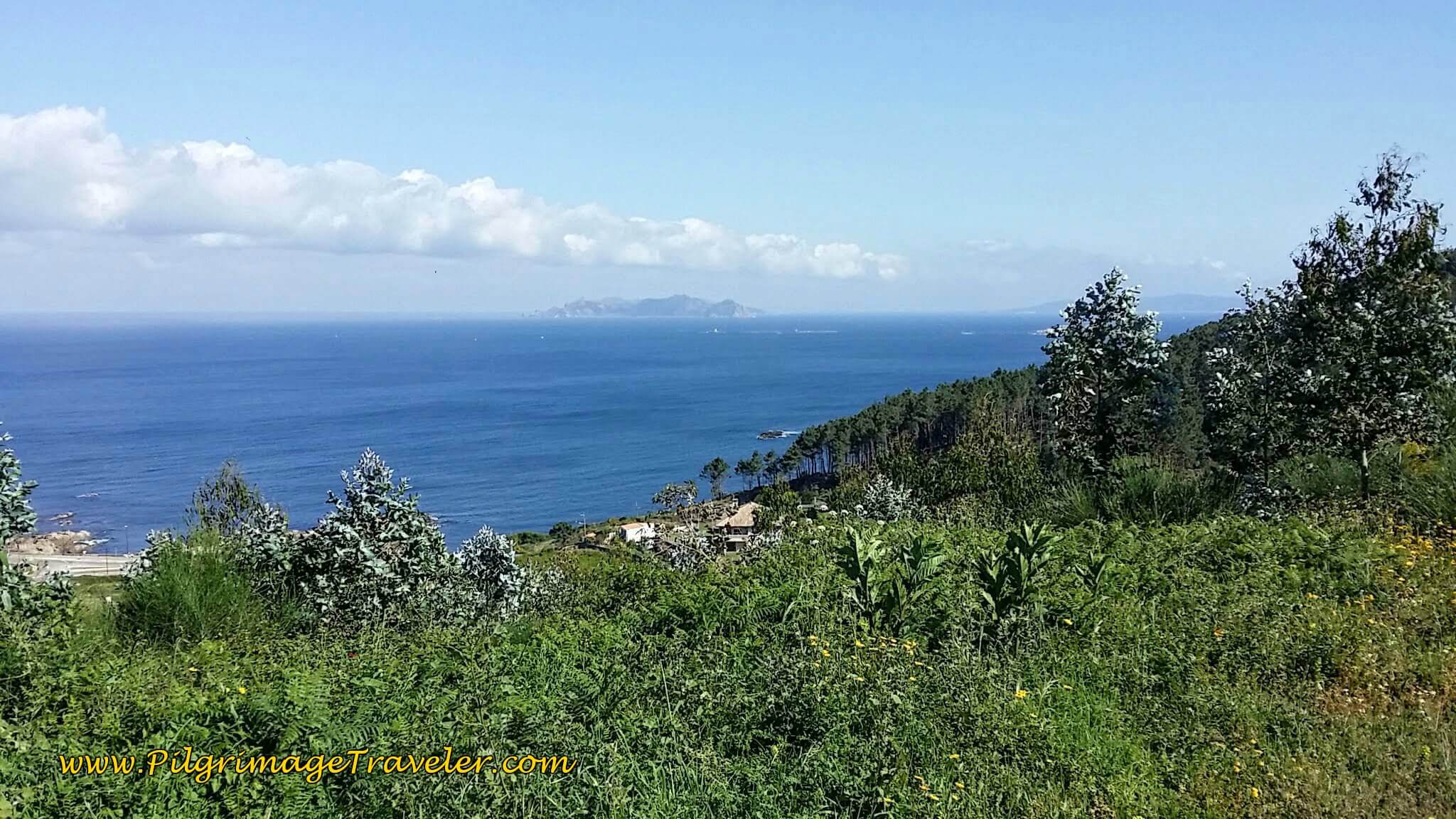 View of Illas Estelas Islands on day twenty, Camino Portugués da Costa