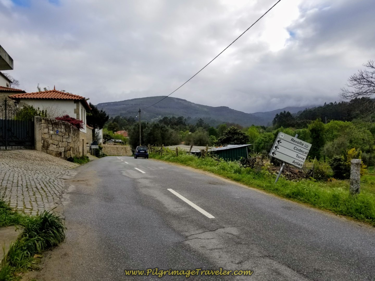 Entering the Next Town of Revolta on day eighteen on the Central Route of the Portuguese Camino