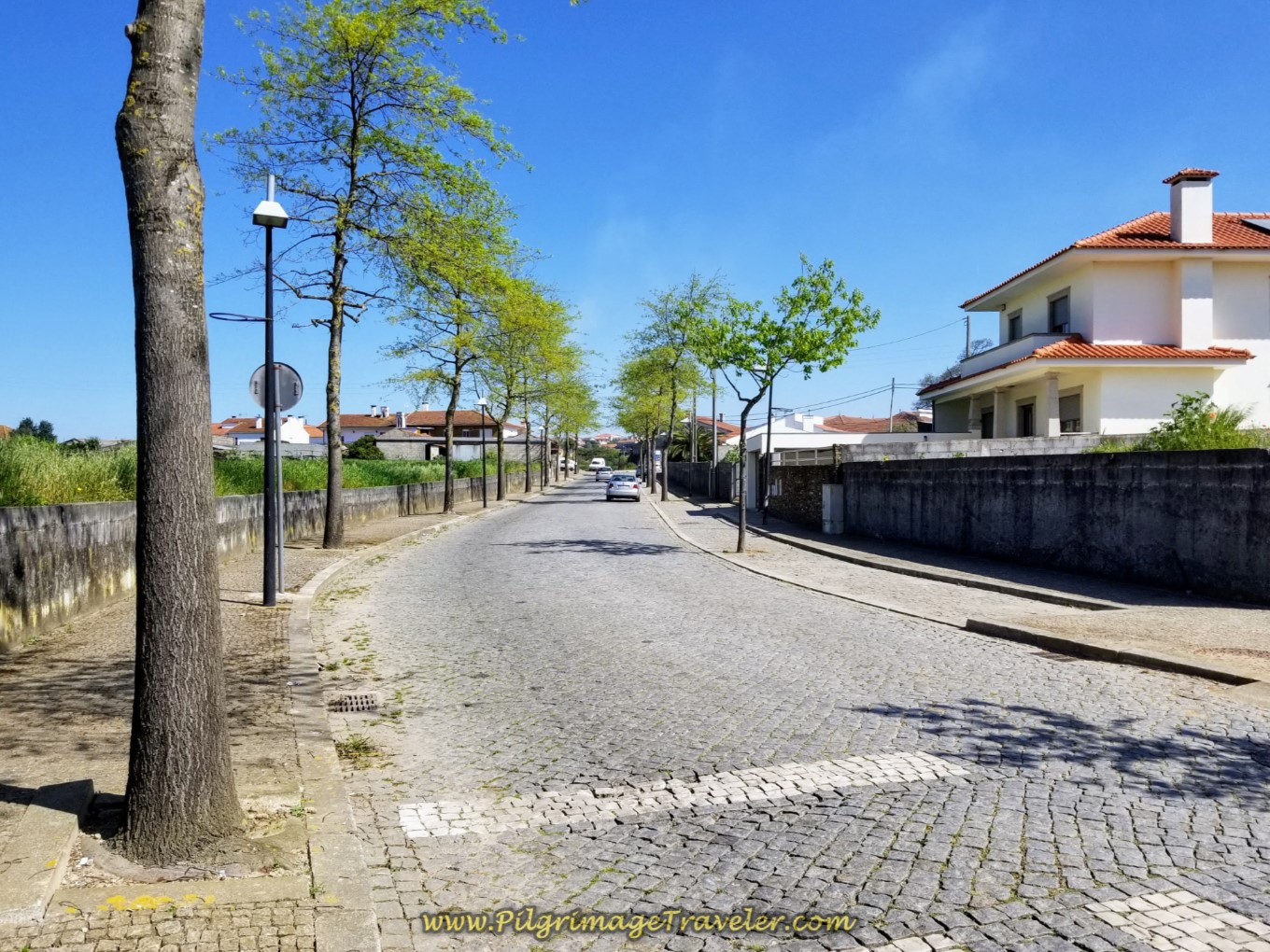 Walking Through the East Side of Rates on day sixteen on the Central Route of the Camino Portugués