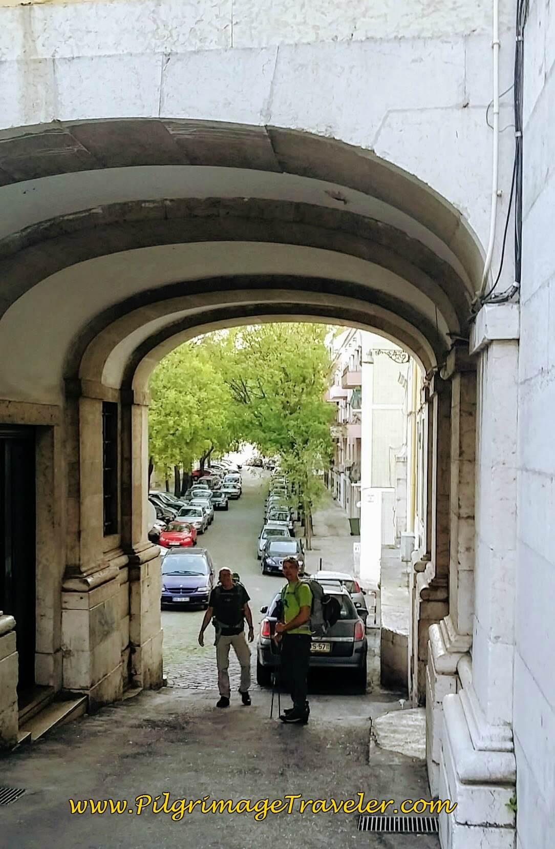 Archway along the Rua do Paraíso, Lisbon, Portugal