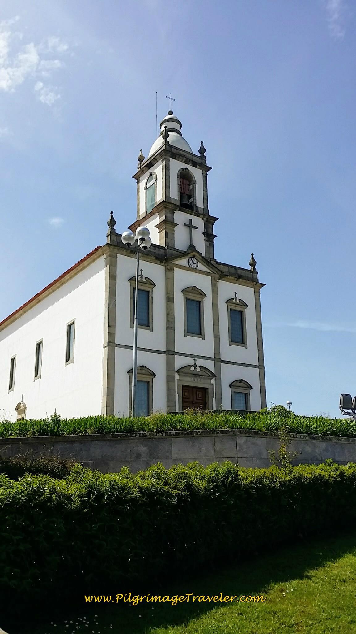 Turn Left at Church on the Hill onto the Rua Visc. de São João de Madeira on day thirteen of the Portuguese Camino