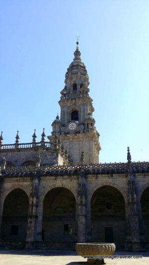 Clock Tower as Viewed from the Cloister, Cathedral of Santiago de Compostela, Spain