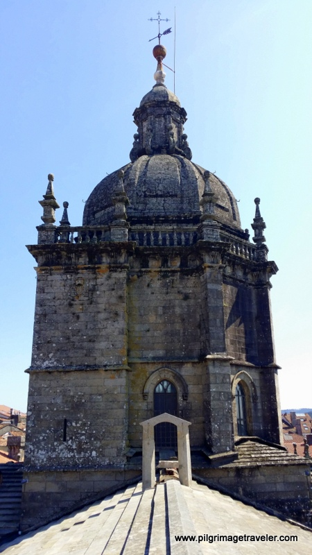 Close-Up of Central Tower, Cathedral of Santiago de Compostela, Spain