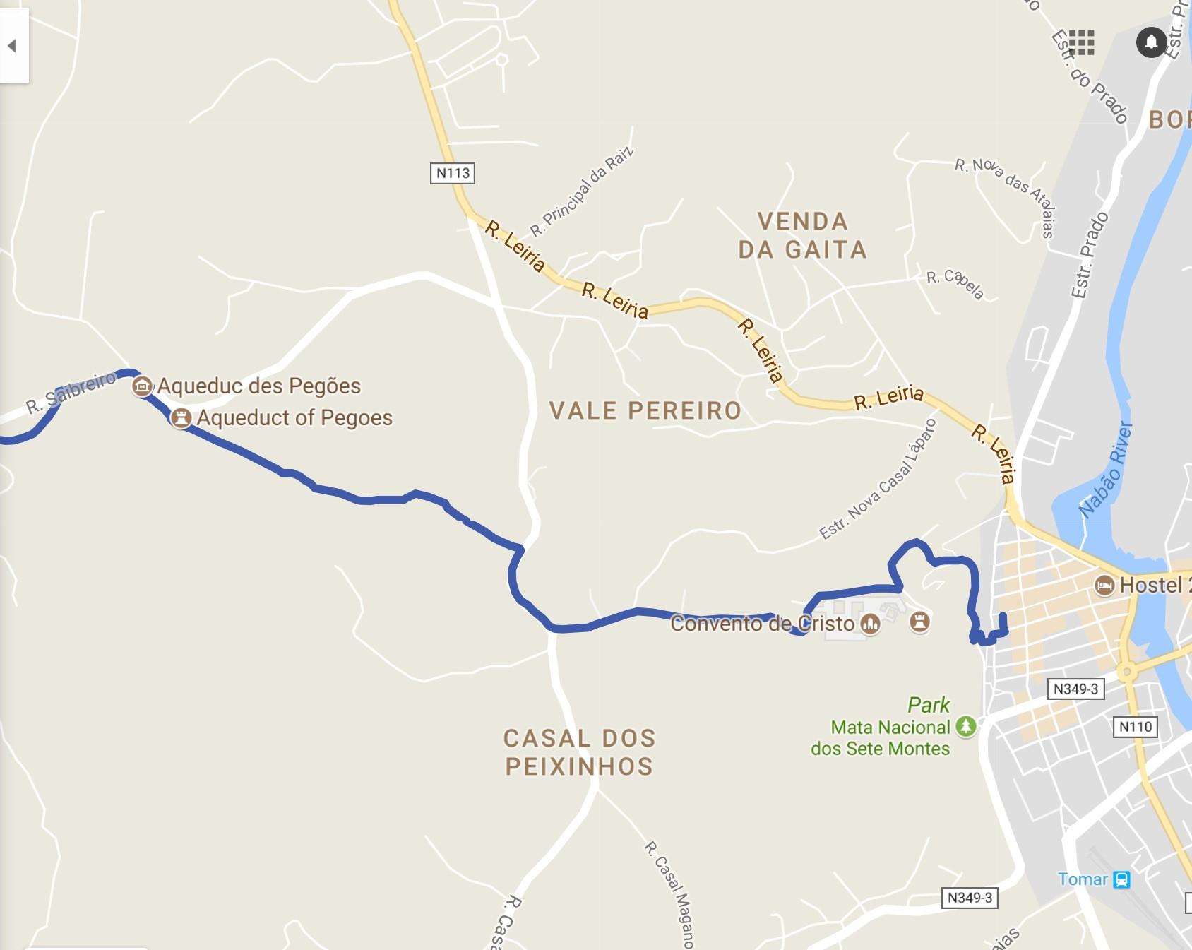 Caminho Nascente From Tomar to the Aqueduto dos Pegões