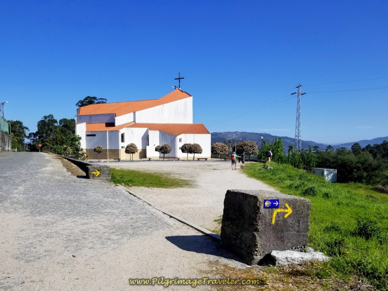 Walk Around the Modern Church to Fátima ~ Igreja Nossa Senhora de Fátima on day seventeen on the Central Route of the Portuguese Camino