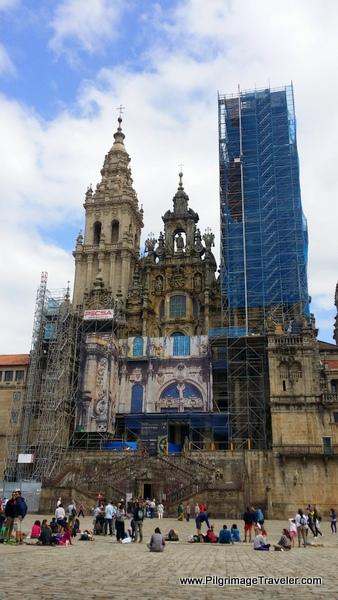 Praza do Obradoiro and the Cathedral of Santiago de Compostelaa