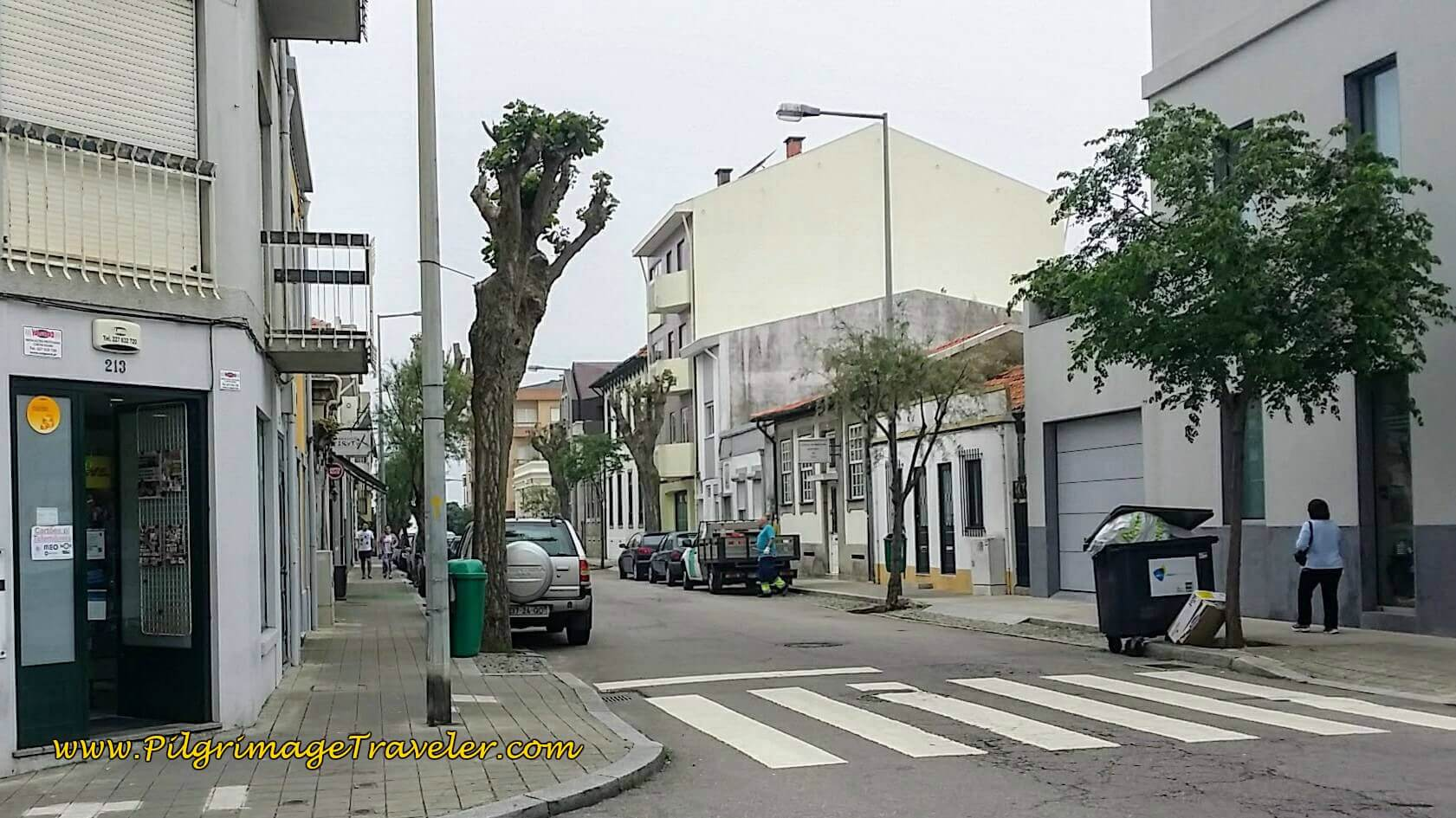Rua Hintze Ribeiro in Matosinhos on day fifteen of the Portuguese Way on the Senda Litoral