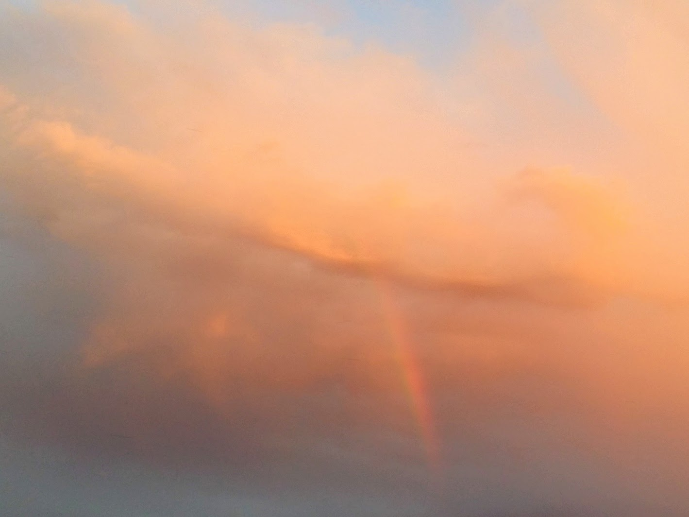 Sunset Clouds Rainbow Promise
