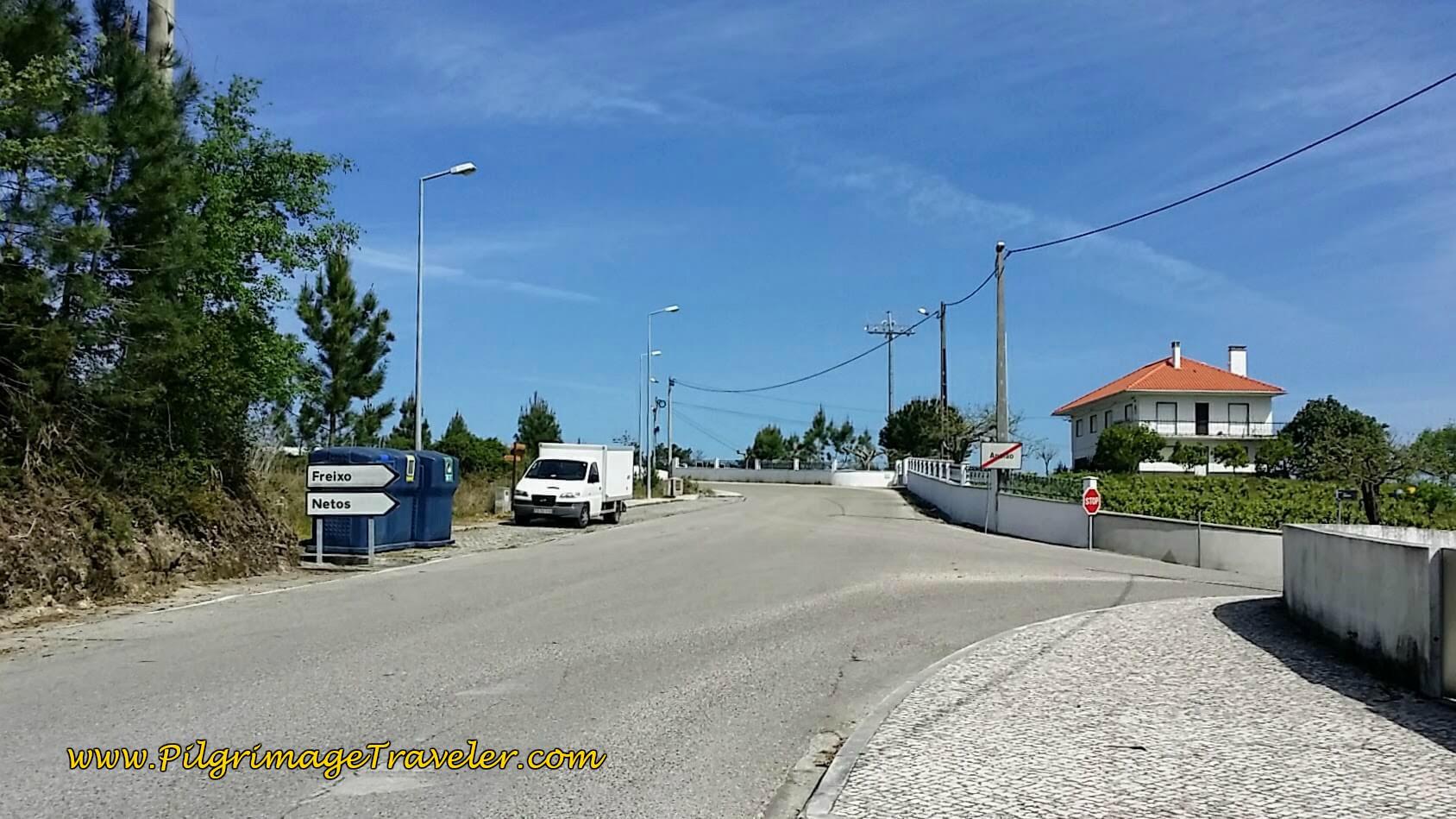 Turn Left in Ansião off N348, Here