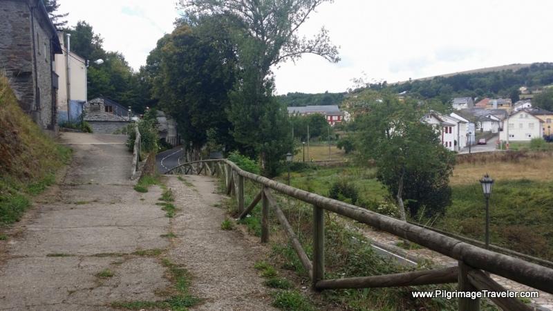 Entering Grandas de Salime on day six, Camino Primitivo