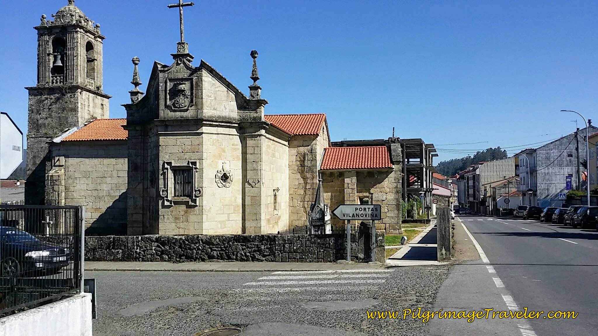 Igrexa de Santa María de Caldas de Reis on day twenty-three, Camino Portugués