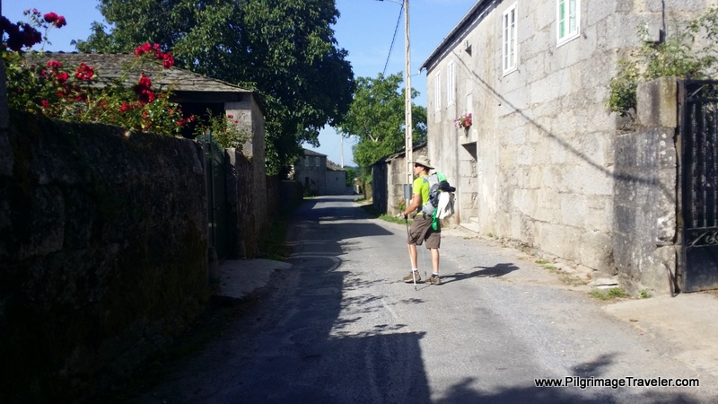 The Remaining Walk Through Vila de Cas, Galicia, Spain
