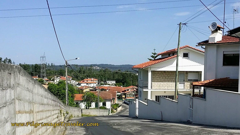 Down the Hill on the Avenida do Espiritu Santo in Besteiros on day thirteen of the Camino Portugués