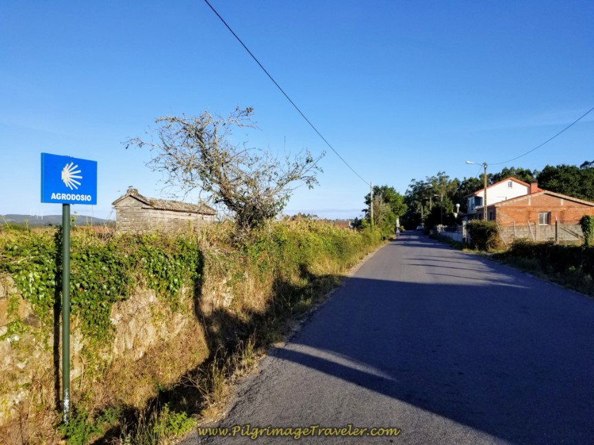 Country Road to Agrodosío on day three of the Camino Finisterre to Muxía