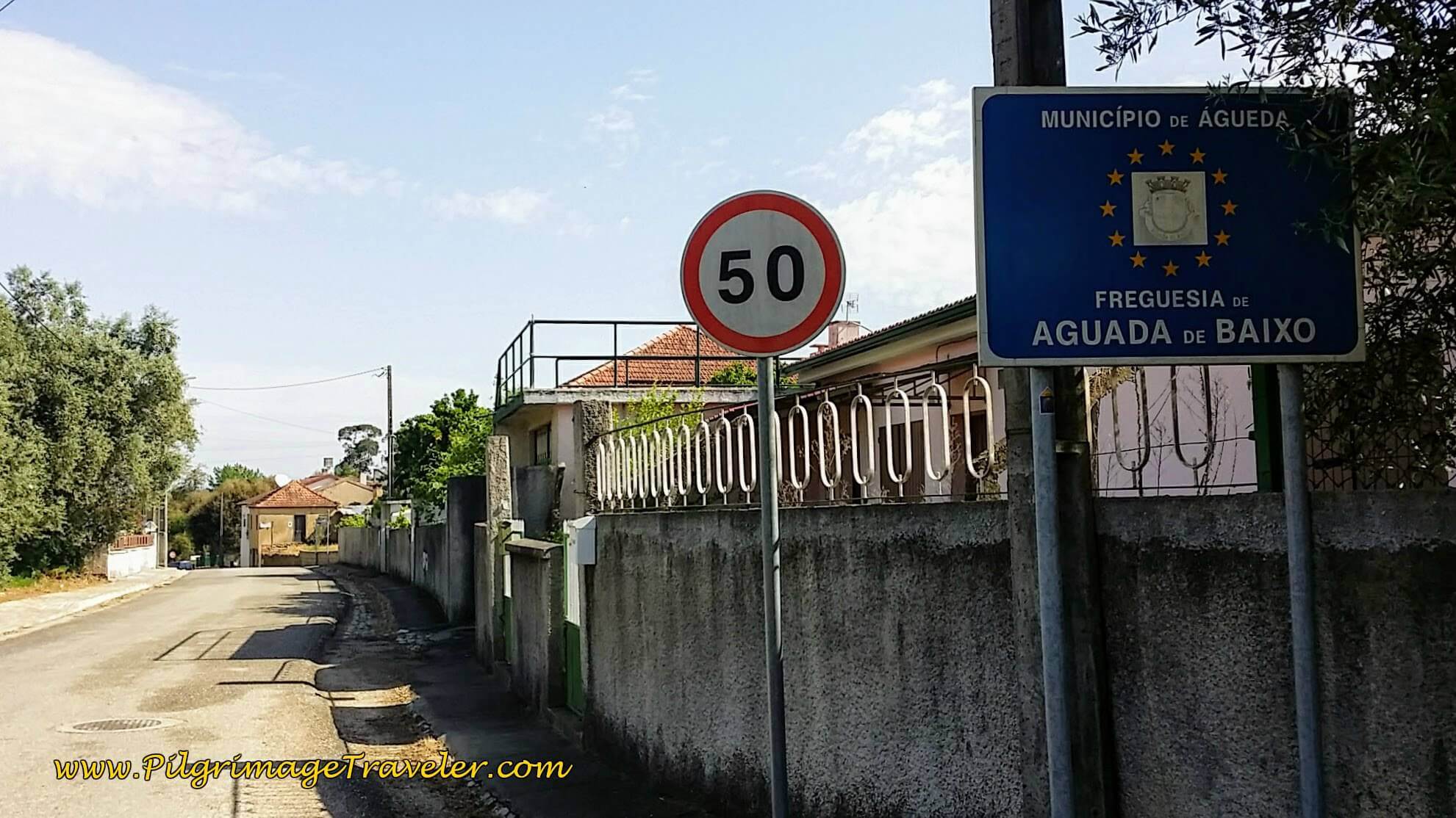 Entering the Municipality of Águeda and the Parish of Aguada de Baixo on the Camino Portugués