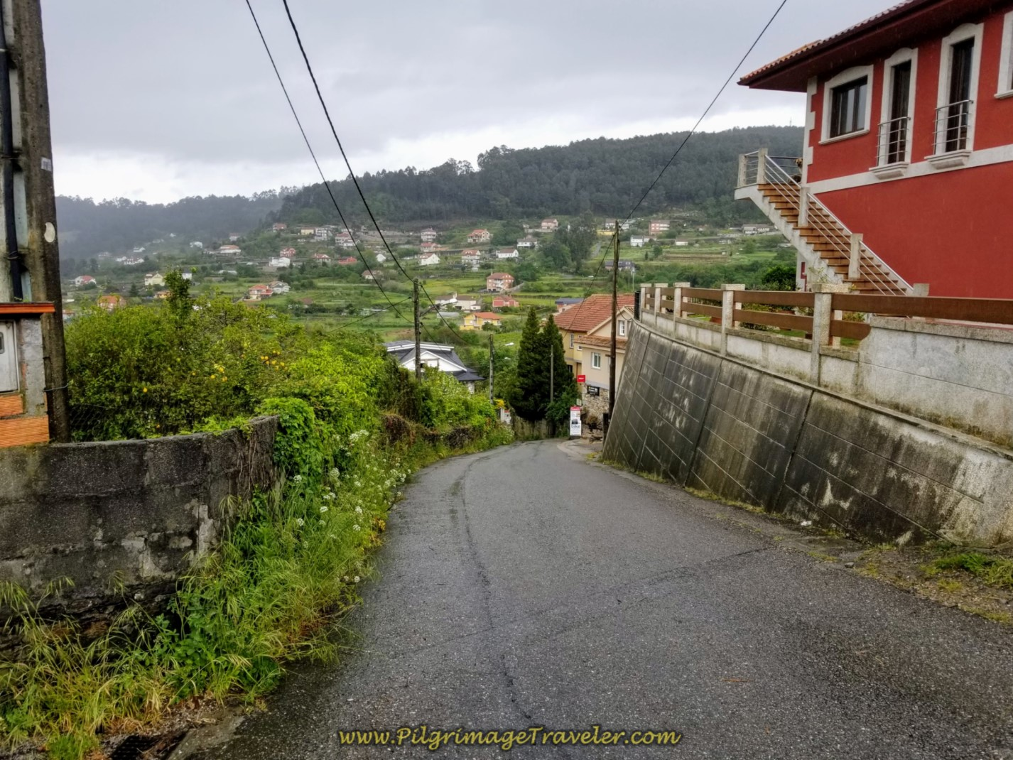 Descending into Padrón on day twenty-one of the central route of the Portuguese Camino