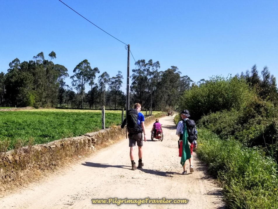 Leaving Rates on the Dirt CM1129-3 on day sixteen on the Central Route of the Portuguese Way