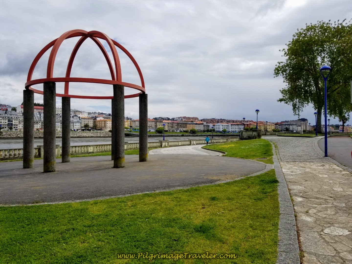 Gazebo Along the Paseo da Ria do Burgo on day one of the La Coruña Arm of the Camino Inglés